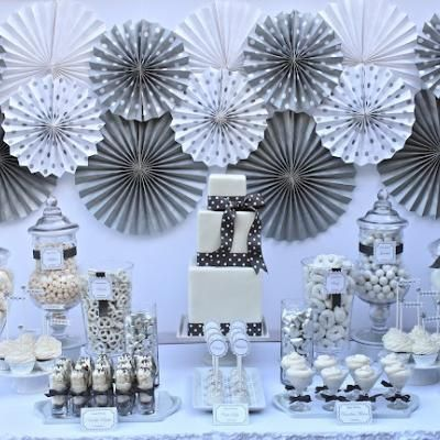 Silver And White 25th Birthday