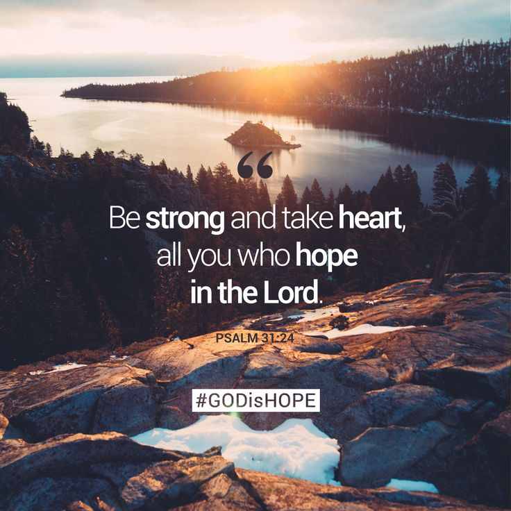 Be strong and take heart, all you who hope in the Lord. - Psalm 31:24 #GODisHOPE #Hope #BeStrong
