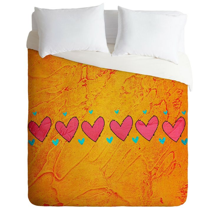 Isa Zapata Love Is In The Air Orange Duvet Cover | DENY Designs Home Accessories