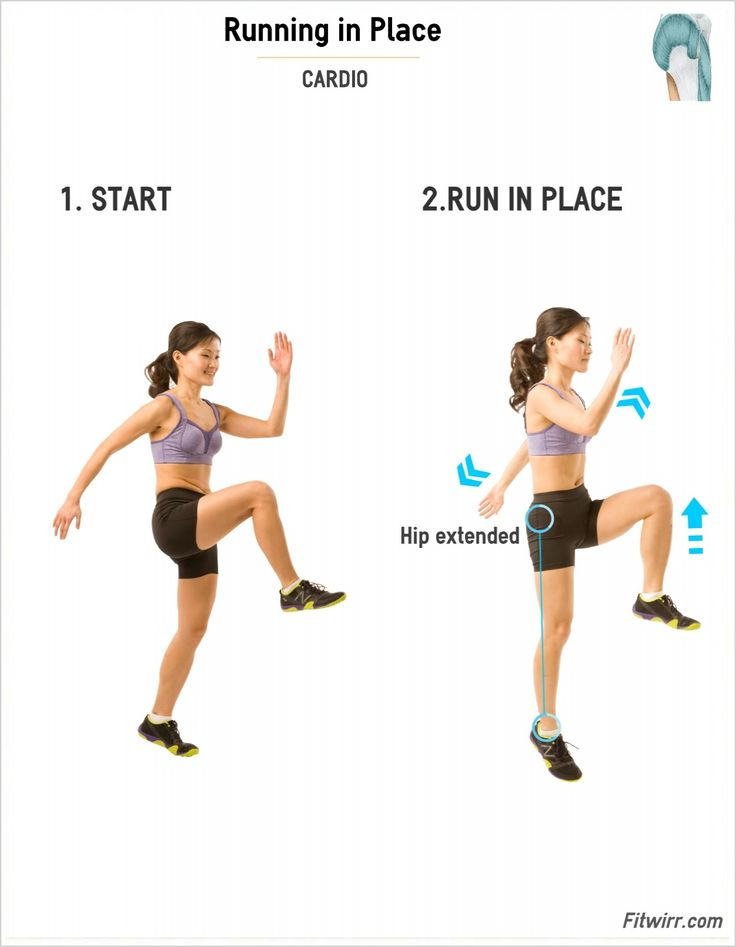 Running In Place | Simple, Exercise and Workout
