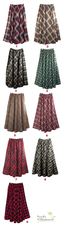Plaid skirts. I love 2 & 4 especially