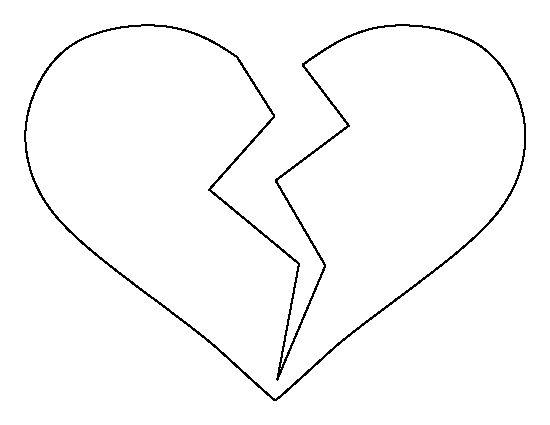 25 best ideas about Heart template – Heart Template