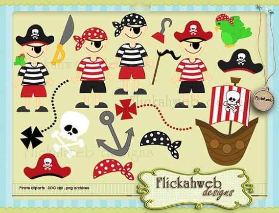 Pirates digital clip art set Commerical Use for Paper Crafts INSTANT DOWNLOAD via Etsy