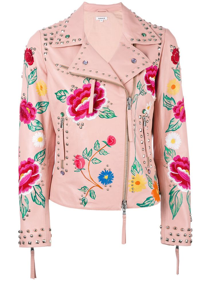 ¡Cómpralo ya!. P.A.R.O.S.H. - Floral Biker Jacket - Women - Cotton/Sheep Skin/Shearling/Polyester - M. Pink cotton and sheepskin floral biker jacket from P.A.R.O.S.H.. Size: M. Color: Pink/purple. Gender: Female. Material: Cotton/Sheep Skin/Shearling/Polyester. , chaquetadecuero, polipiel, biker, ante, antelina, chupa, decuero, leather, suede, suedette, fauxleather, chaquetadecuero, lederjacke, chaquetadecuero, vesteencuir, giaccaincuio, piel. Chaqueta de cuero  de mujer color rosa de…