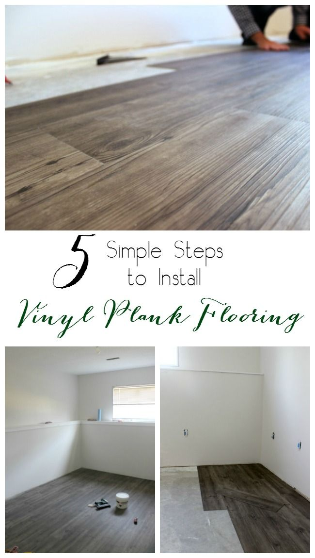 5 Easy Steps To Install Vinyl Plank Flooring In Your Home! Only Takes A  Couple