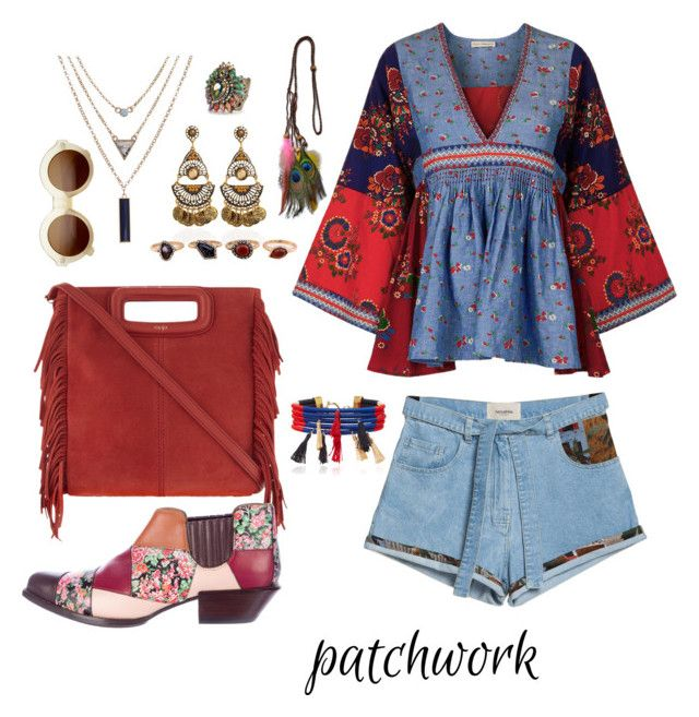 """""""All Patched Up!"""" by devarahma on Polyvore featuring Ulla Johnson, WithChic, Sweet Romance, Maje, ZeroUV, Isabel Marant and Coach"""