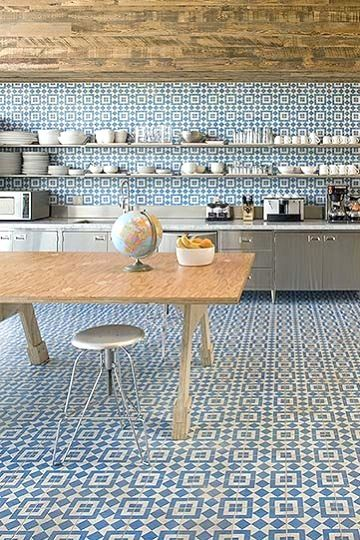 patterned tiles - magpie and squirrel