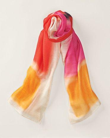 Sunset brights scarf - [K13265]