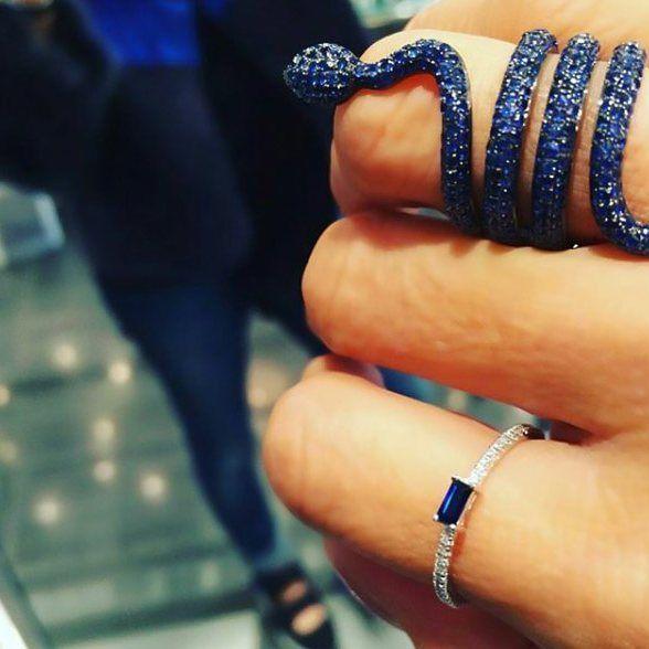 #saphire #safir #snake #ring #diamond