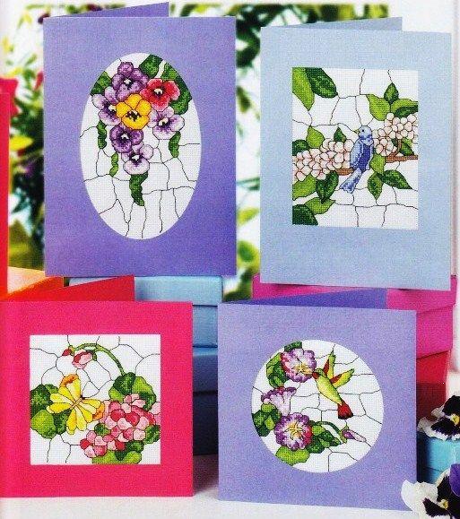 Вышиваем крестиком открытки