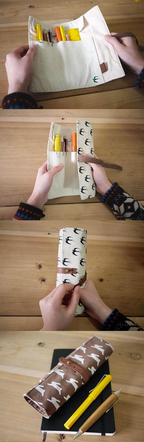 Conejo / tragar / lona lavada Wrap lápiz del cisne por sTiCkALot