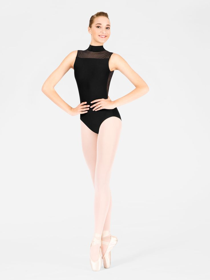 Adult Lys Swiss Dot Tank Leotard by WEAR MOI Turtle necks are really only acceptable in dance.