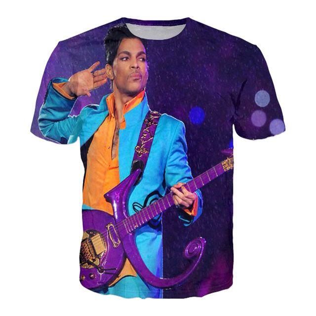Personaje de Dibujos Animados 3d prendas de Vestir Exteriores ocasional Camiseta Streetwear Estilo Príncipe de Lluvia Púrpura Camiseta de Verano Tops Camiseta de Los Hombres/de las mujeres Camiseta