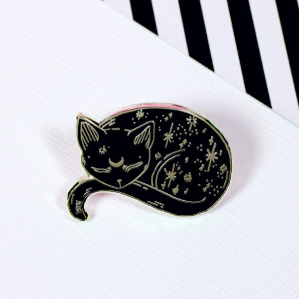 Mystical Cat Enamel Pin | Punky Pins – punkypins