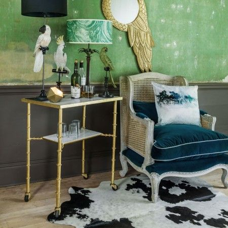 Gold Bamboo Bar Cart | Furniture | Graham and Green