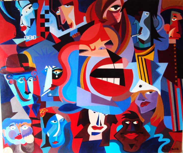 Un volto tra la folla (Acrilico su tela 120x100)