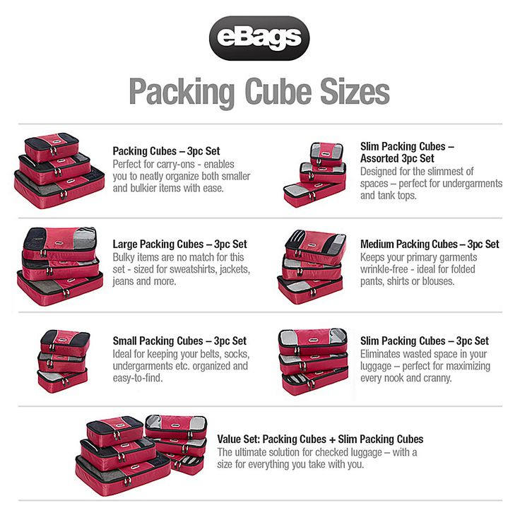 eBags Packing Cubes - 3 Piece Set - eBags.com