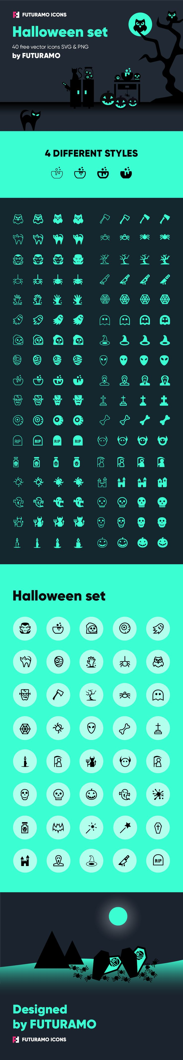 New Halloween icons are here! #halloween #halloween2017 #icondesign  #icons #futuramo #futuramoicons #design #designideas #designinspiration