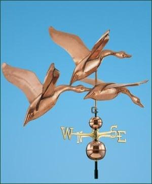 Geese in Flight Weathervane traditional garden sculptures