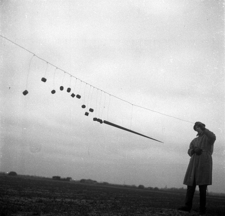 "Eustachy Kossakowski's photographs of Edward Krasiński ""Spear"", Zalesie, 1964"