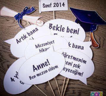 Photoprops for graduation - Mezuniyet için Konuşma Balonları
