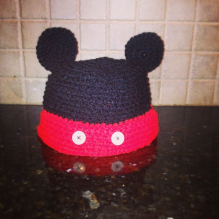 Crochet mickey mouse mickey mouse hat and mickey mouse on pinterest