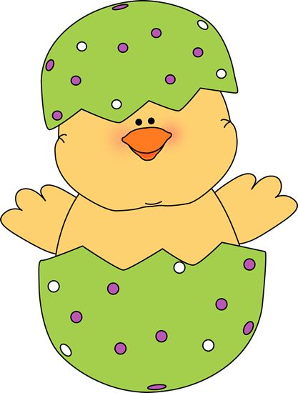 Chick in an Easter egg. Easter clipart ideas