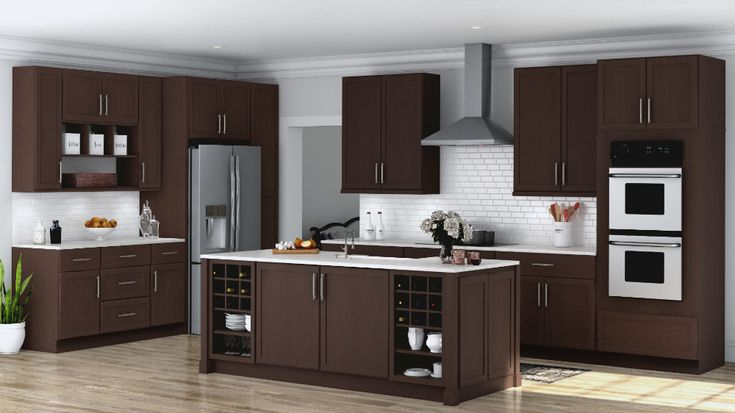 shaker wall kitchen cabinets in java kitchen the home depot brown kitchen cabinets home on kitchen cabinets java id=40401
