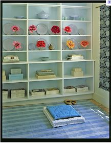 From My Living Room: Back painted bookshelves