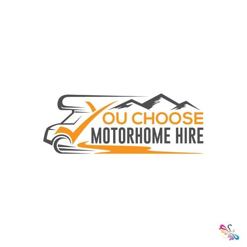 You choose motorhome hire - Eye catching logo to use on website letter heads and other advertising Motor home hire for people to go on holiday in or go to music festivals in. Aiming for more high end clients...