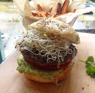 Vegan hamburgare svarta bönor