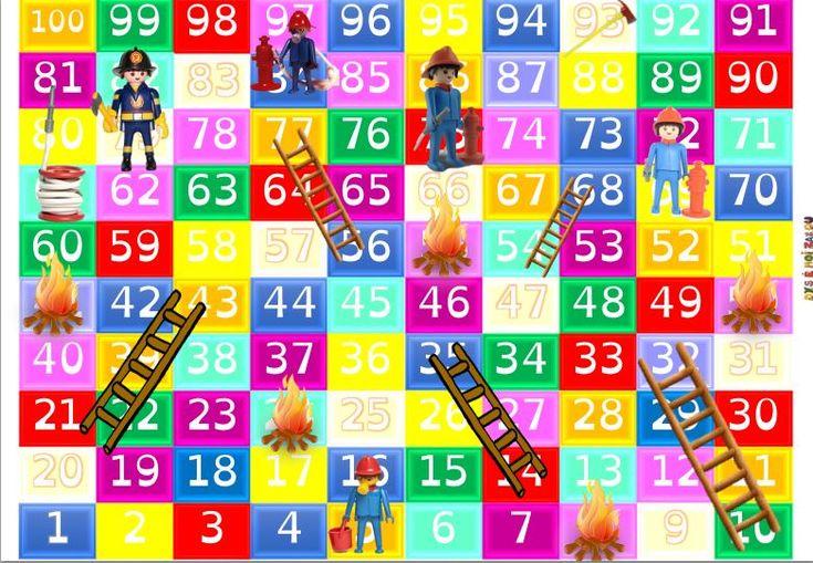 Le jeu des pompiers et le carré de 100 - dys é moi zazou