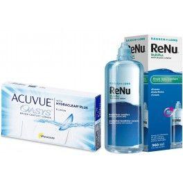 Pachet Promotional: Acuvue Oasys with Hydraclear Plus - 6 lentilelor de contact moi cu la inlocuire la 14 zile si  RenuMulti Plus 360 ml - solutie multifunctioala pentru curatarea si depozitarea lentilelor de contact!