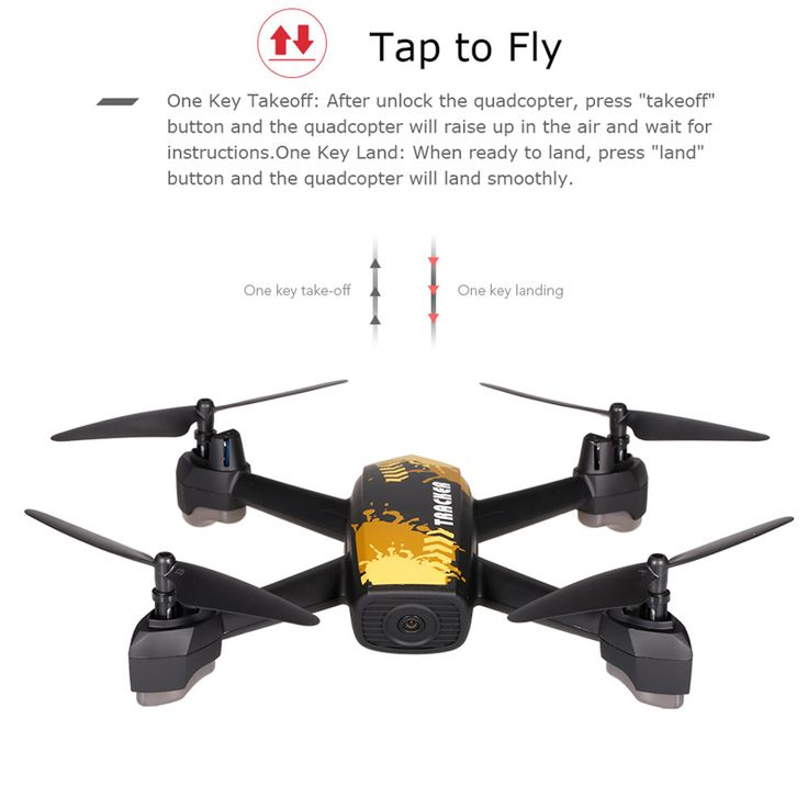 JXD 518 2.4G 720P Camera Wifi FPV GPS Positioning Altitude Hold Sales Online yellow - Tomtop.com