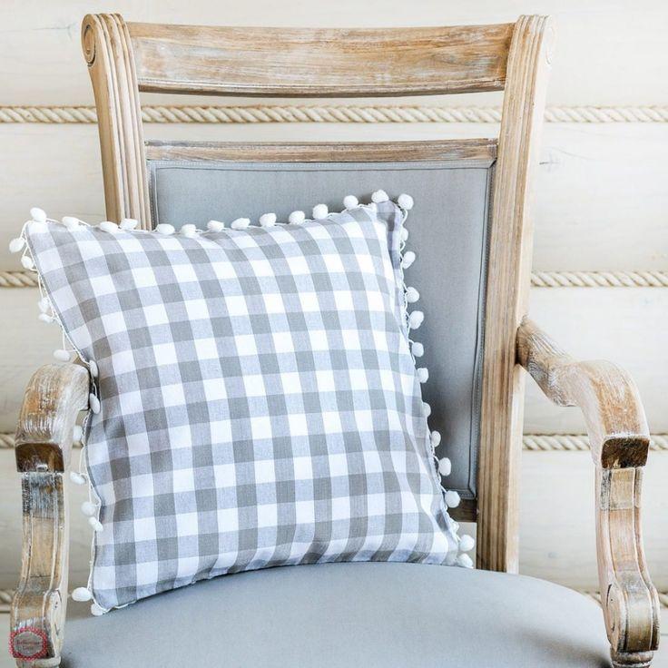 Декоративные подушки, Декоративная подушка Flocke Grey Pomp
