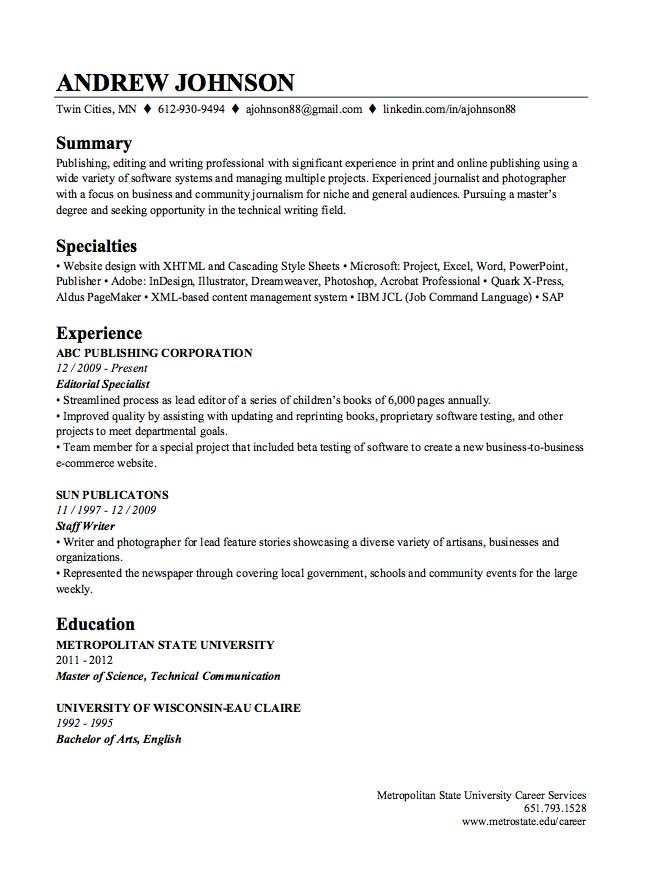 LinkedIn Resume Builder Sample -    resumesdesign linkedin - sample journalism resume
