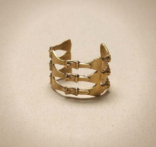 Equestrian inspired cuff bracelet
