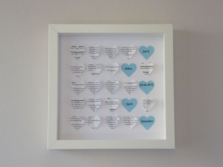 Image of Hearts - Small - Blue - Custom Paper - Order of Service