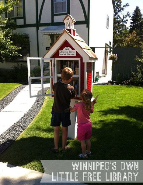 Little Free Library in Winnipeg