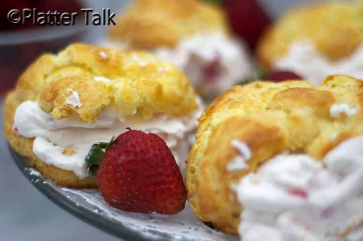 Strawberry State Fair Cream Puffs