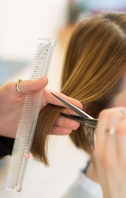Erotic hair cutting treatment