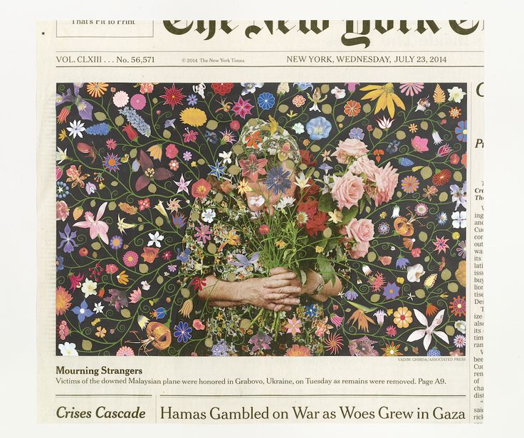 Abstracted Alterations to The New York Times' Front Pages by Fred Tomaselli | Colossal