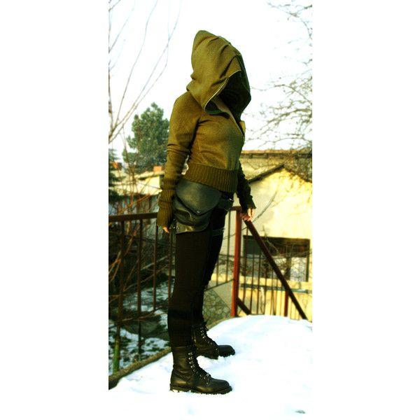 Doomed Town Steampunk Hoodie Fleece Larp Cosplay Extra Long Sleeves... (€48) ❤ liked on Polyvore featuring tops, hoodies, brown, sweatshirts, women's clothing, brown hoodie, fleece sweat shirts, hooded pullover, hoodie sweatshirts and brown sweatshirt