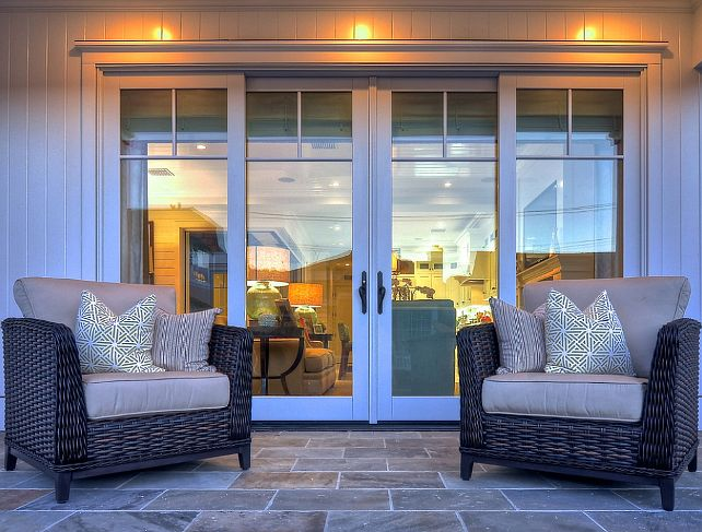 California Beach House. A wonderful place to sit and talk, while watching people passing by. The doors are Jeld Wen french sliders.