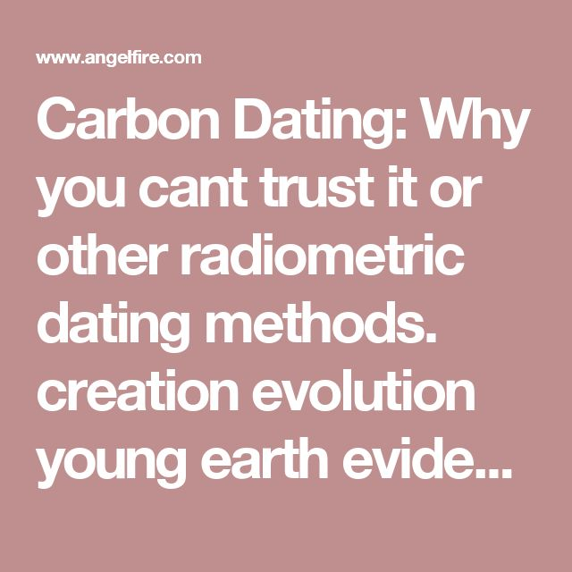 How does carbon dating support evolution