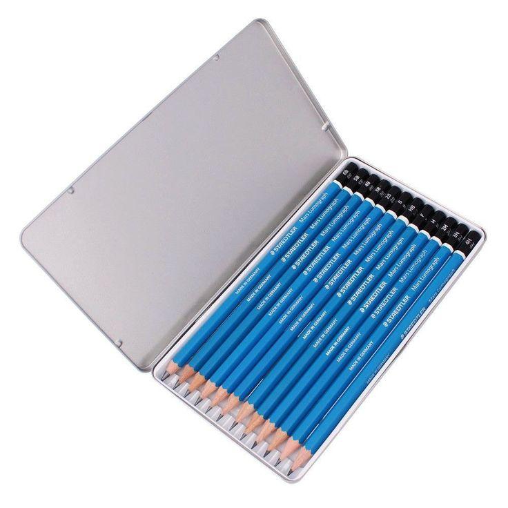 Staedtler Mars Lumograph 100 G12 Premium Quality Pencil Metal Tin 12Set (6B~4H) #Staedtler