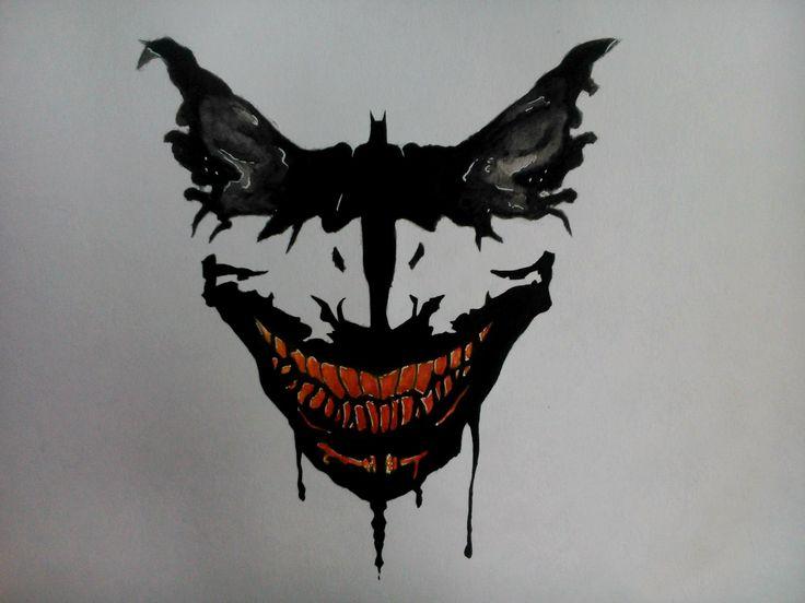 #Batman #Art #Watercolor #Бэтмен #Арт #Акварель