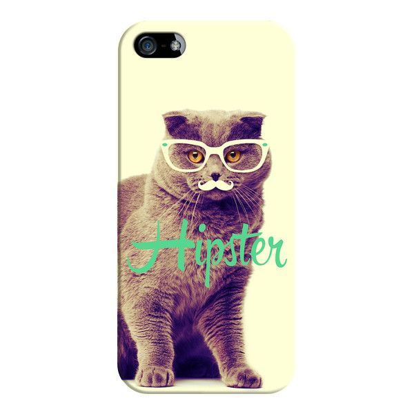 iPhone 6 Plus/6/5/5s/5c Case - Turquoise Funny Cat Cute Hipster... ($35) ❤ liked on Polyvore featuring accessories, tech accessories, phone cases, iphone case, iphone cover case, apple iphone cases and cat iphone case