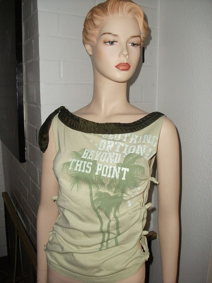 SALE Ten Dollar Upcycled Sexy Fashionable T Small by GreenTease - StyleSays