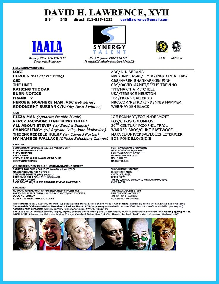 Actor resume is indeed hard to make But it doesnu0027t mean you - actors resume samples